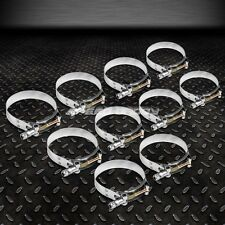 "10 X 2.5"" STAINLESS ZINC COATED TURBO INTAKE INTERCOOLER SILICONE T-BOLT CLAMPS"