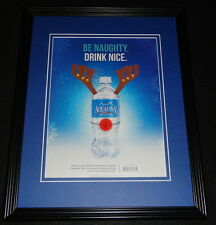 2014 Aquafina Water Christmas Framed 11x14 ORIGINAL Advertisement