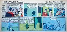 Chris Welkin Planeteer by Art Sansom - scarce Sunday comic page - July 10, 1955