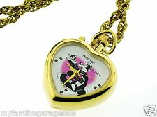 1994 Armitron Warner Brothers Musical Pepe Le Pew Heart Pendant Watch