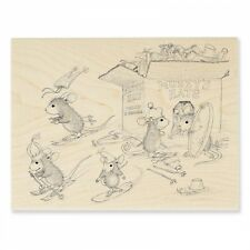HOUSE MOUSE RUBBER STAMPS HAT BOX NEW STAMP