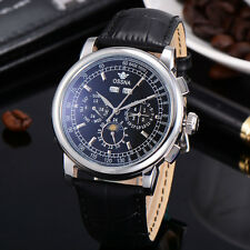 42mm Multifunction Automatic Black Dial Silver markers Ossna Men Watch 04