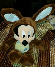 Disney Store Chocolate 2012 Easter Bunny Mickey Mouse  Plush NICE
