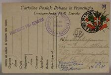 POSTA MILITARE 10° CORPO D'ARMATA 15.4.1917 COMANDO 2SEZ.TRENO AUSILIARIO#XP221E