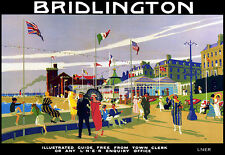 Art Ad Bridlington Summer Stoll LNER Train Rail Travel Railway  Poster Print
