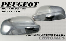CHROME DOOR MIRROR COVER SIDE EXTERIOR CAP PEUGEOT 307 307CC CC SW 2001-2008 HDI