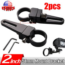 2x 2Inch 51mm Mount Bracket Clamps for LED Light Bar Rigid Bullbar HID TRUCK 2''