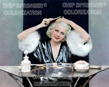 JEAN HARLOW AT MAKEUP TABLE SOFT PORTRAIT 8X10 COLOR PHOTO BY CHIP SPRINGER