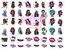 48 Nail Art Waterslide Decals Monster High Girl Child Kid Size