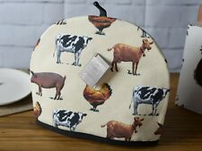 FARMERS MARKET Cows, Pigs & Hens COTTON PADDED TEA COSY