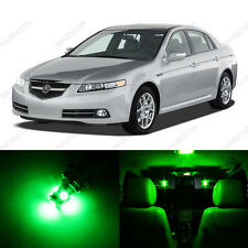 9 x Green LED Interior Lights Package For 2004 - 2008 Acura TL US Seller