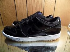 2011 Nike Dunk Low Pro SB Space Jam Black Patent White size 12 brand new