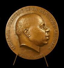 Médaille Président Léon Mba Indépendance du Gabon Afrique Africa 67 mm Medal