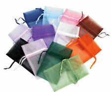 12 Assorted Organza Drawstring Silk Pouch Bags 3x4 #3
