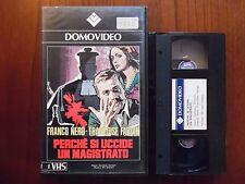 Perché si uccide un magistrato (Franco Nero) - VHS ed. Domovideo rara