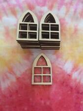 Wooden Laser Cut Fairy Windows Gothic Pack of 10 Crafts  Embellishments Blanks