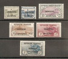 TIMBRE ASIA INDOCHINE INDOCHINA ORPHELINS GUERRE N°90/95 NEUF* MH CHINE CHINA