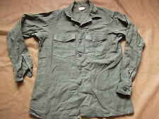 GENUINE ORIGINAL USMC US MARINE issue UTILITY SHIRT 1974 VIETNAM WAR OG 107 L