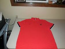 Nike France FFF Soccer Polo Shirt Team World Cup Red Cotton Mens XXL XL