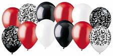 12 pc Elegant & Sultry Damask Inspired Latex Balloon Party Decoration 16th Red