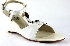 Andrea Conti Schuhe Sandalen Sandaletten Echt Leder Gr.39 Weiß 2228