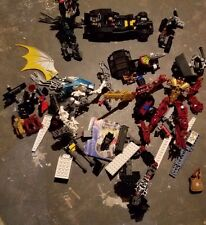 LEGO Bionicle Lot of Pieces and Nearly-Complete Figures with Race car + Misc.