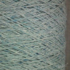ANGORA WOOL BLEND YARN LIGHT BLUE TWEED 500g CONE 10 BALL DOUBLE KNITTING DK SKY
