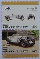 1928 MERCEDES-BENZ SSK Car Stamps (Leaders of the World / Auto 100)