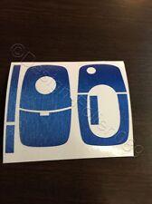 Blau Brush Dekor Schlüssel Folie Skoda Bora VW Roomster RS Combi Superb Fabia