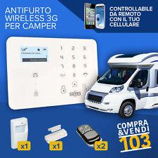 Kit Antifurto per Camper Furgone Roulotte Allarme Combinatore Gsm Sms Wireless