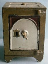 19th Century Cast Iron Safe Still Bank made in USA, pat. Feb 15, 1881