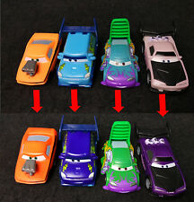 Lot of 4 Disney Cars Color Changers Boost, Snot Rod, DJ & Wingo Tuner Gang 1/55