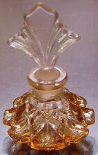 Beautiful Pink Cut Glass Perfume Bottle with Ground Glass Stopper