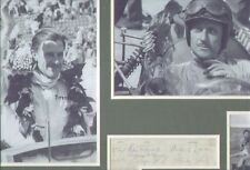 GRAHAM HILL & BORN FREE SIGNED AUTOGRAPHS