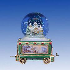 White Christmas Dreams Wonderland Express Snowglobe Train Set #8 Thomas Kinkade