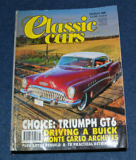 Classic Cars March 1991 Cord 812, Buick Roadmaster, Triumph GT6, Merc 540K