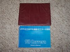 1985-1986 Porsche 911 Carrera Owner's Owners Manual Book w/ Case