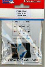 AML Models 1/72 SIEBEL Si-202 CANOPY AND CANOPY MASK SET