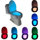 8Color LED Sensor Motion Activated Bathroom Toilet lights Seat Bowl Battery Glow