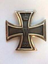 MEDAL INSIGNIA GERMAN WW1 IRON CROSS 1ST CLASS - 800 SILVER MARK