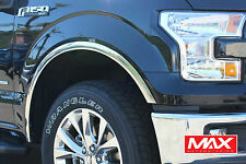 FTFD214 - 2015-2017 Ford F-150 w/o Factory Flare POLISHED Stainless  Fender Trim