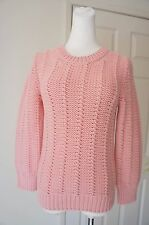MARC JACOBS Pink Chunky Thick 100% Cashmere Sweater Small Made in Italy