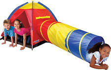 DISCOVERY KIDS~CHILD~ADVENTURE PLAY~TWIST~POP UP~TENT/TUNNEL~2PC SET~IN/OUTDOOR