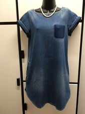 JOURNAL STANDARD FADED DENIM COTTON POLYESTER POLYURETHANE DRESS SIZE NOT NOTED