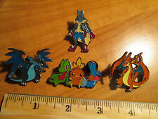 Mega M CHARIZARD+LUCARIO EX+TREECKO+TORCHIC+MUDKIP Metal PIN/BADGE Pokemon XY