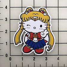 "Hello Kitty Sailor Moon 4"" Tall Color Vinyl Decal Sticker BOGO"