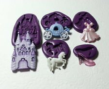 Silicone Molds Cinderella Theme Set - Castle Coach Dress Glass Slipper Horse