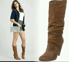 New $199 Guess brown Women's leather Ardor Boots shoes size 10 medium