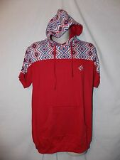 mens enyce sean combs tribal  s/s hoodie shirt XL nwt red white blue