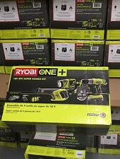 BRAND NEW Ryobi P883 ONE+ 18V Lithium-Ion 4 Tools Kit Drill Saw Light Recip saw